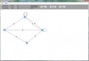 Graph editor and Matrix generator