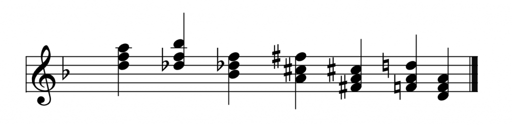 Two chromatic chord progressions